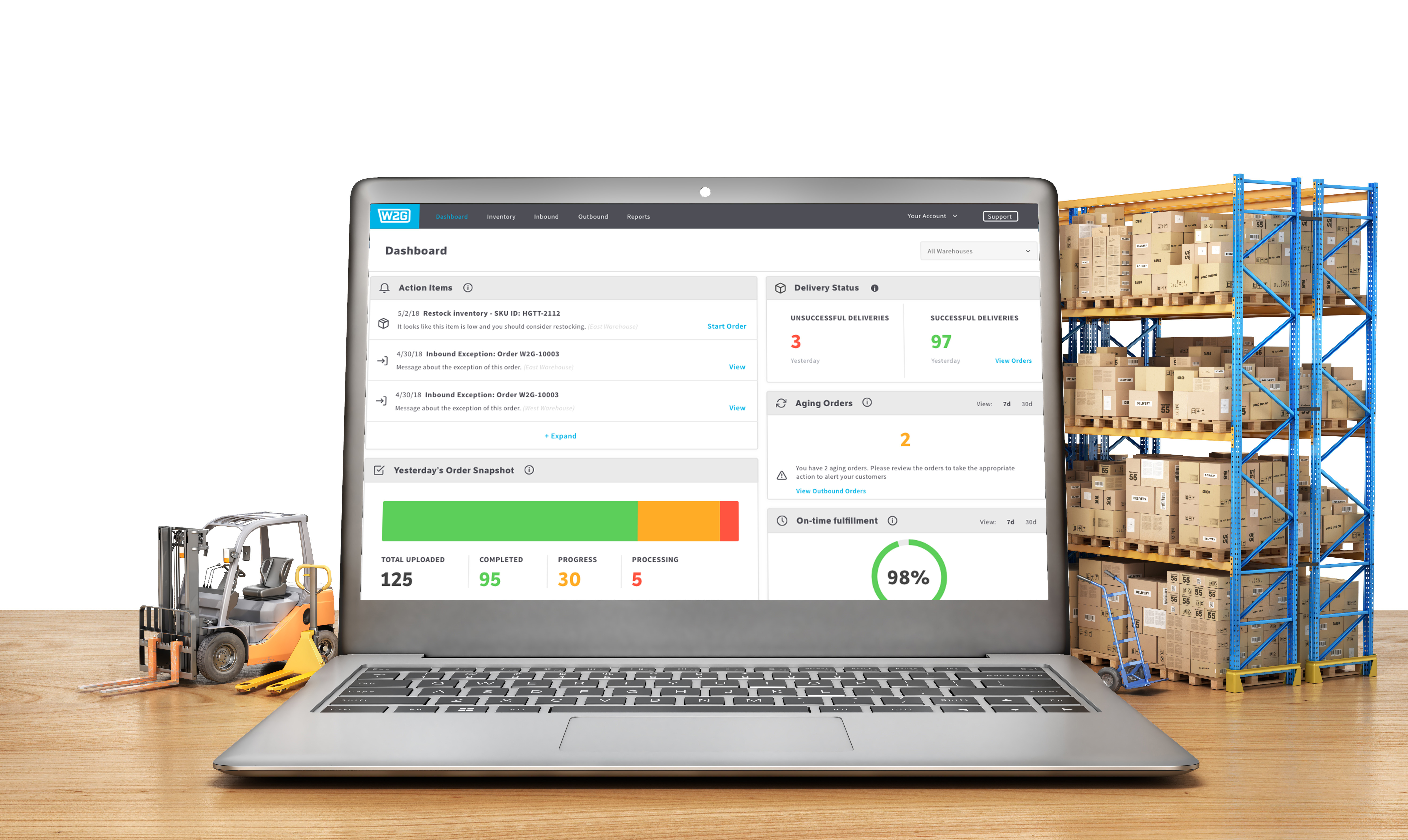 Ware2Go's cloud-based warehouse management system (WMS)