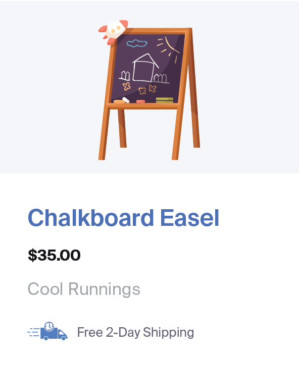 Chalkboard for sale through Google Shopping with Free and Fast Shipping annotation